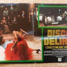 Cine: DISCO MUSIC FEVER (DISCO DELIRIO), ITALIAN PHOTOBUSTA, FOLDED, 1979, OSCAR ROY. Lote 110051923