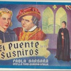 Cine: CINEVIDA. EL PUENTE DE LOS SUSPIROS. HISPANO AMERICANA. 14 PÁGINAS CON FOTOGRAFÍAS DE LA PELÍCULA.. Lote 112425267