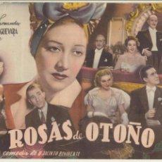Cine: CINEVIDA. ROSAS DE OTOÑO. HISPANO AMERICANA. 14 PÁGINAS CON FOTOGRAFÍAS DE LA PELÍCULA.. Lote 112425907