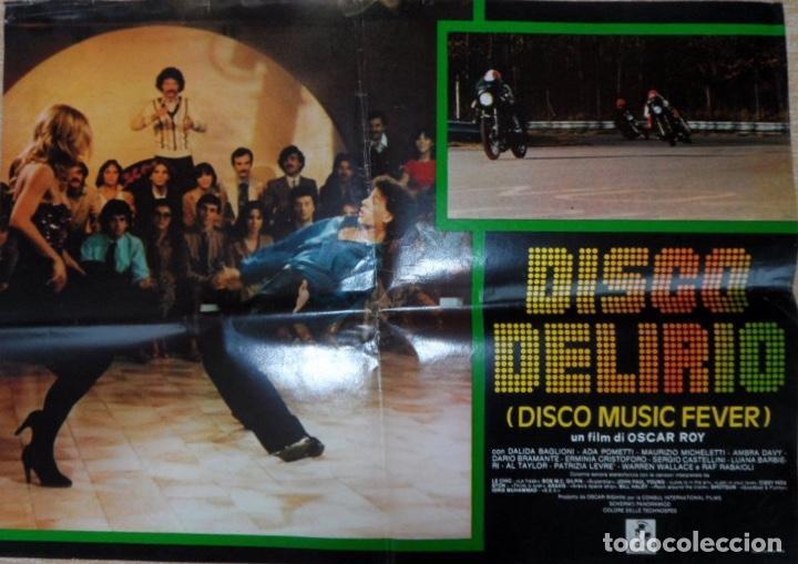 DISCO MUSIC FEVER (DISCO DELIRIO), ITALIAN PHOTOBUSTA, FOLDED, DALIDA BAGLIONI (Cine - Foto-Films y Cine-Novelas)