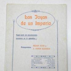 Cine: LAS JOYAS DE UN IMPERIO, CINE MUDO, 1915-20'S. 17 PAG. 15,5X21 CM.. Lote 114462543
