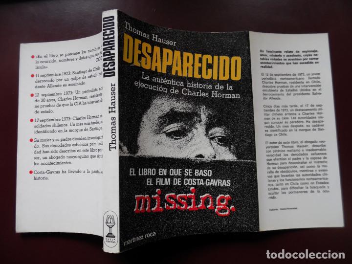 MISSING, DE THOMAS HAUSER, NOVELA DE LA PELÍCULA DE COSTA-GAVRAS CON JACK LEMMON. ALLENDE. (Cine - Foto-Films y Cine-Novelas)