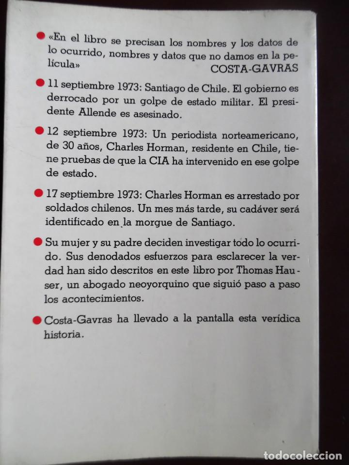 Cine: MISSING, DE THOMAS HAUSER, NOVELA DE LA PELÍCULA DE COSTA-GAVRAS CON JACK LEMMON. ALLENDE. - Foto 2 - 114666155