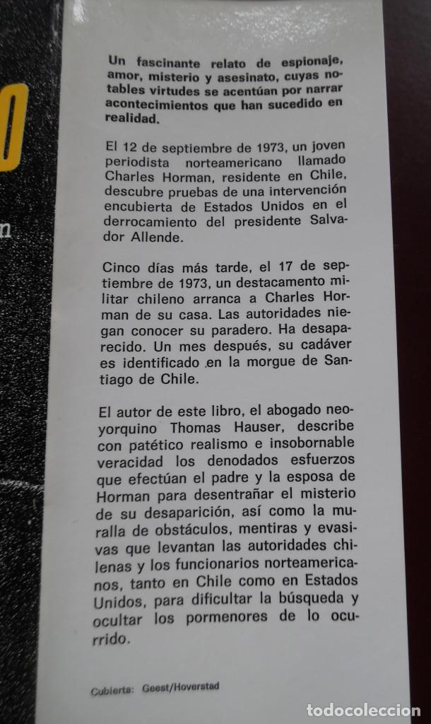Cine: MISSING, DE THOMAS HAUSER, NOVELA DE LA PELÍCULA DE COSTA-GAVRAS CON JACK LEMMON. ALLENDE. - Foto 3 - 114666155