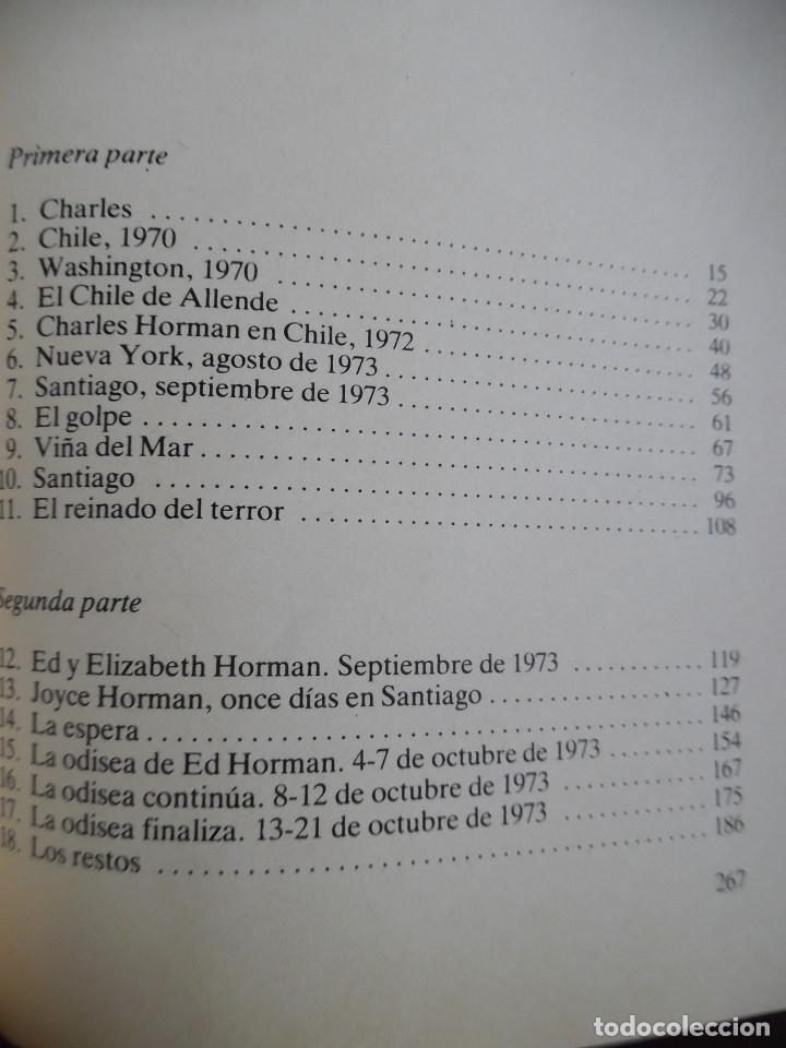 Cine: MISSING, DE THOMAS HAUSER, NOVELA DE LA PELÍCULA DE COSTA-GAVRAS CON JACK LEMMON. ALLENDE. - Foto 4 - 114666155