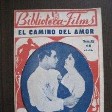 Cine: RODOLFO VALENTINO - EL CAMINO DEL AMOR - BIBLIOTECA FILMS -VER FOTOS-(V-13.748). Lote 114795319