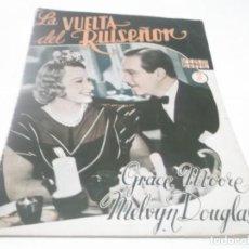 Cine: CINE NOVELA, SERIE ESTRELLAS DEL CINEMA,/LA VUELTA DEL RUISEÑOR /Nº 30/AÑO 1942. Lote 115149071