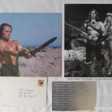 Cine: ARNOLD SCHWARZENEGGER SGD. CHRISTMAS CARD AND PHOTOS/1977. Lote 115984219