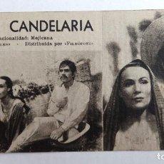 Cinema: MARIA CANDELARIA, Nº276 CARTON FICHA DE LA PELICULA CON RESUMEN Y ACTORES, ORIGINAL. Lote 120146327