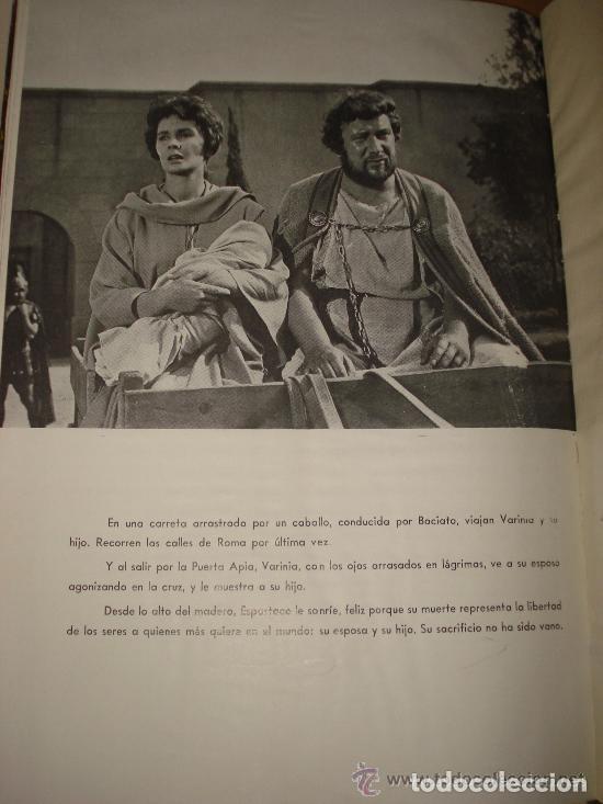 Cine: ESPARTACO - STANLEY KUBRICK (MAUCCI, 1960) CON FOTOS DEL FILM - GRAN FORMATO - Foto 4 - 171604623