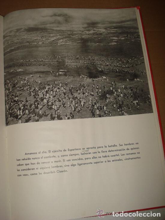 Cine: ESPARTACO - STANLEY KUBRICK (MAUCCI, 1960) CON FOTOS DEL FILM - GRAN FORMATO - Foto 7 - 171604623