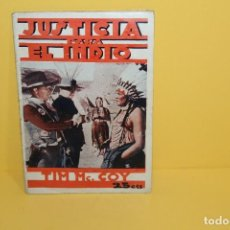 Cine: BIBLIOTECA FILMS - JUSTICIA PARA EL INDIO Nº 639 TIM MC.COY - AÑO XII. Lote 125402871