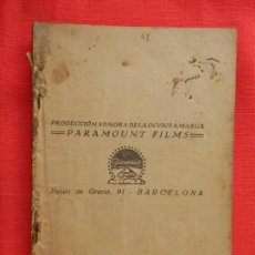 Cine: CASCARRABIAS, ERNESTO VILCHES, NOVELA ED. BIBLIOTECA FILMS, 96 PÁGINAS. Lote 127867251