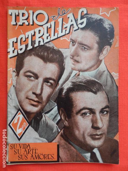 TRIO DE ESTRELLAS, NOVELA EDIT. CISNE, 1940, A ESTRENAR, 64 PÁG. (Cine - Foto-Films y Cine-Novelas)
