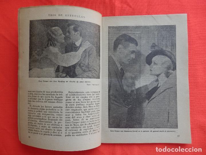 Cine: trio de estrellas, novela edit. cisne, 1940, a estrenar, 64 pág. - Foto 3 - 127871735