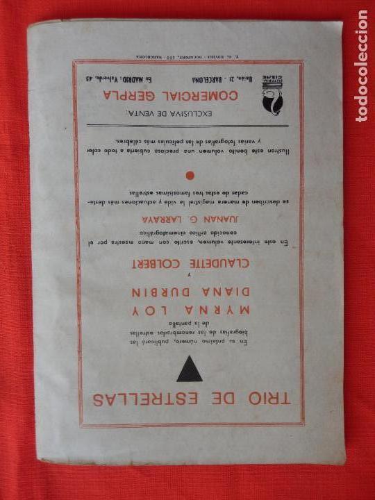 Cine: trio de estrellas, novela edit. cisne, 1940, a estrenar, 64 pág. - Foto 5 - 127871735