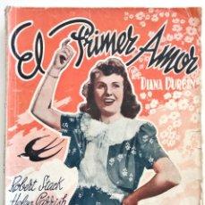 Cine: EL PRIMER AMOR - EDICIONES MARAZUL - CON DIANA DURBIN Y ROBERT STACK. Lote 128249983