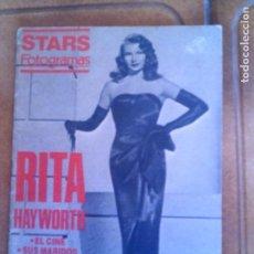 Cine: STARS FOTOGRAMAS DE RITA HAYWORTH ILUSTRADO. Lote 131026440