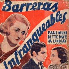 Cine: BETTE DAVIS : BARRERAS INFRANQUEABLES (BISTAGNE). Lote 131283571