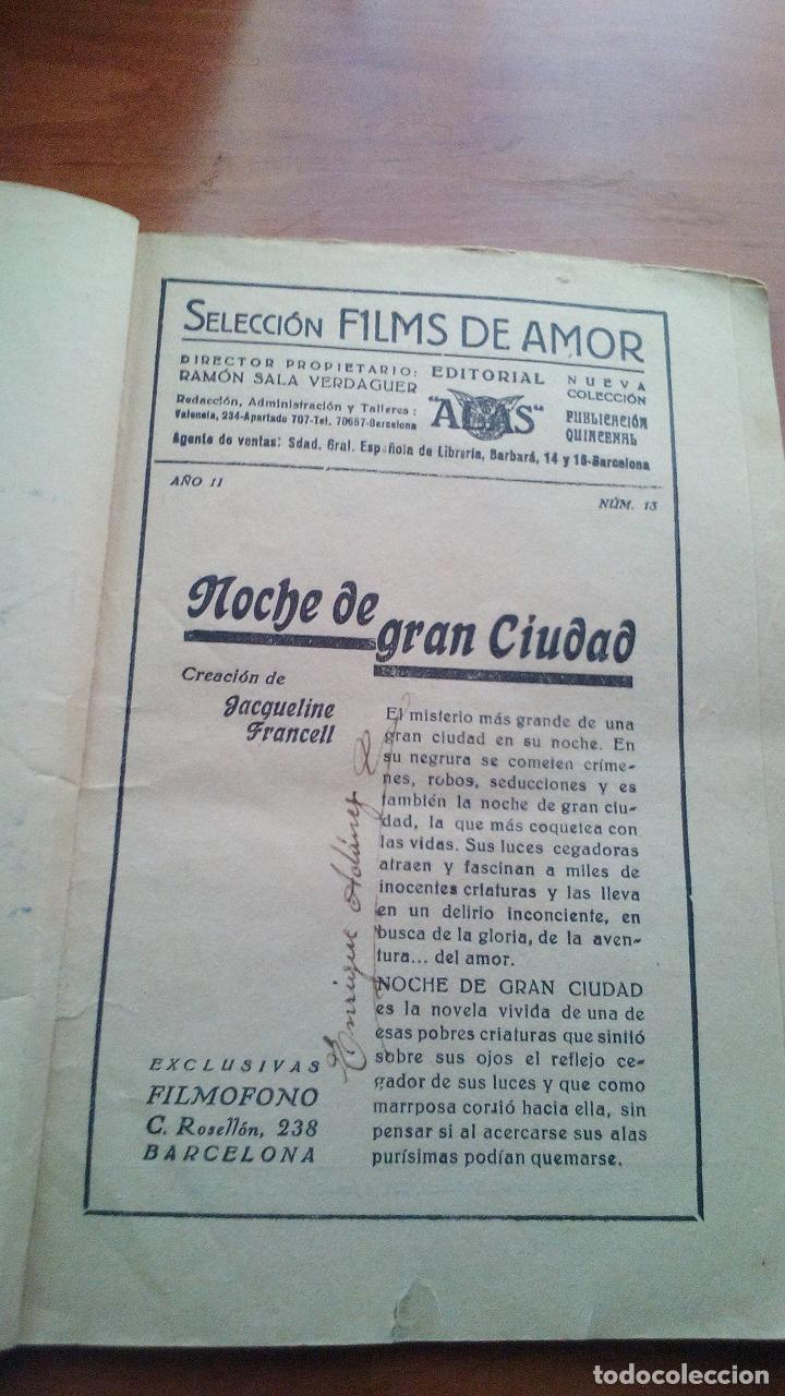 Cine: NOCHE DE GRAN CIUDAD - JAQUELINE FRANCELL Y ROGER TREVILLE - EXCLUSIVAS FILMOFONO (BARCELONA) - - Foto 2 - 131352446