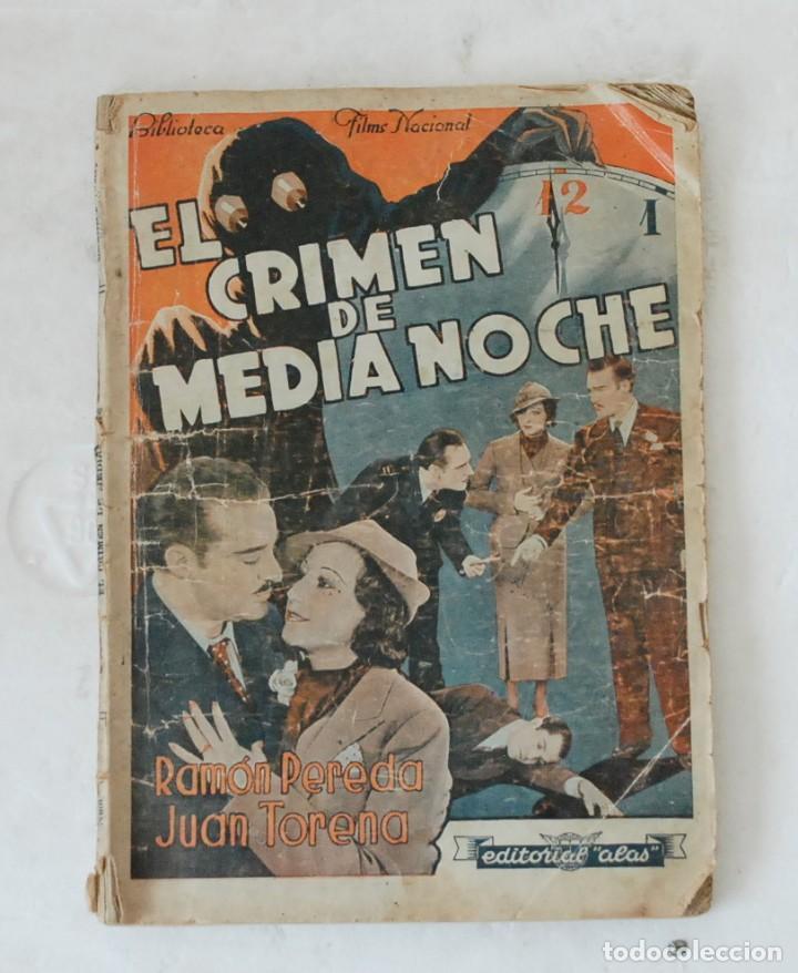 EL CRIMEN DE MEDIANOCHE - BIBLIOTECA FILMS NACIONAL AÑO III Nº 14. EDITORIAL ALAS BARCELONA (Cine - Foto-Films y Cine-Novelas)