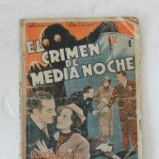 Cine: EL CRIMEN DE MEDIANOCHE - BIBLIOTECA FILMS NACIONAL AÑO III Nº 14. EDITORIAL ALAS BARCELONA. Lote 132520414