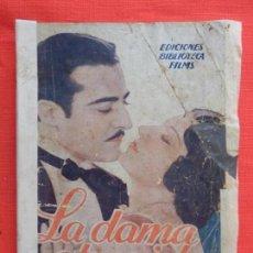 Cine: LA DAMA ATREVIDA, NOVELA EDIC. BIBLIOTECA FILMS, RAMON PEREDA LUANA ALCANIZ, 96 PÁG.. Lote 132918386