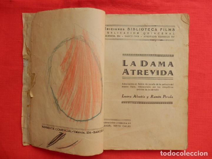 Cine: la dama atrevida, novela edic. biblioteca films, ramon pereda luana alcaniz, 96 pág. - Foto 2 - 132918386