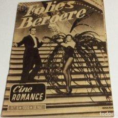 Cine: REVISTA DE CINE ROMANCE, AÑOS 50. ILUSTRADA.. Lote 134805262