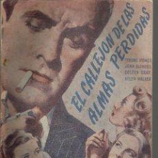 Cine: EL CALLEJON DE LAS ALMAS PERDIDAS CON TYRONE POWER - EDICIONES BISTAGNE . Lote 137356970