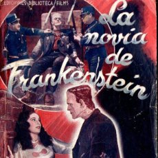 Cine: BORIS KARLOFF : LA NOVIA DE FRANKENSTEIN (BIBLIOTECA FILMS). Lote 138653626