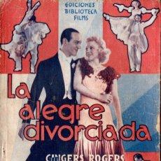 Cine: FRED ASTAIRE - GINGER ROGERS : LA ALEGRE DIVORCIADA (BIBLIOTECA FILMS). Lote 138654474