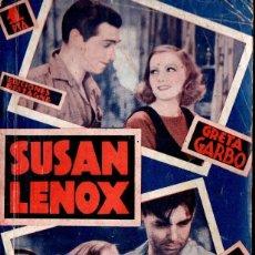 Cine: GRETA GARBO - CLARK GABLE : SUSAN LENOX (BISTAGNE). Lote 138654866