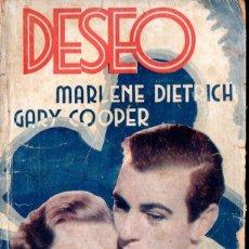 Cine: MARLENE DIETRICH - GARY COOPER : DESEO (BIBLIOTECA FILMS). Lote 138655194