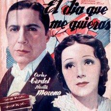 Cine: CARLOS GARDEL : EL DIA QUE ME QUIERAS (BIBLIOTECA FILMS). Lote 138655366