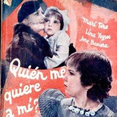 Cine: QUIEN ME QUIERE A MÍ . SÁENZ DE HEREDIA (BISTAGNE, 1936). Lote 138655966