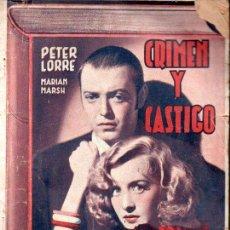 Cine: PETER LORRE - CRIMEN Y CASTIGO (ALAS BIBLIOTECA FILMS) . Lote 138949938