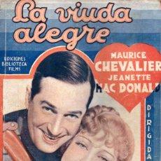 Cine: ERNST LUBITH - MAURICE CHEVALIER - JEANETTE MAC DONALD - LA VIUDA ALEGRE (BIBLIOTECA FILMS) . Lote 138950170