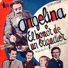 Cine: ENRIQUE DE ROSAS / JARDIEL PONCELA - ANGELINA O EL HONOR DE UN BRIGADIER (BISTAGNE, 1935). Lote 138950318