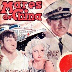 Cine: CLARK GABLE / JEAN HARLOW : MARES DE CHINA (BIBLIOTECA FILMS). Lote 138950610