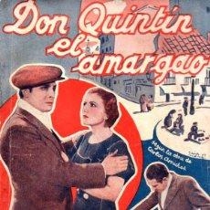 Cine: DON QUINTIN EL AMARGAO (BISTAGNE) SEGÚN LA OBRA DE CARLOS ARNICHES. Lote 138951970