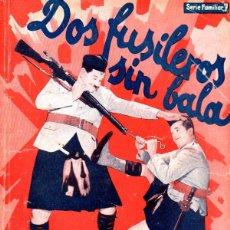 Cine: OLIVER HARDY - STAN LAUREL ; DOS FUSILEROS SIN BALA (BISTAGNE, 1936). Lote 138952098
