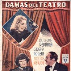 Cine: KATHERINE HEPBURN / GINGER ROGERS : DAMAS DEL TEATRO (BIBLIOTECA FILMS, S.F.). Lote 138952298