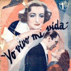 Cine: JOAN CRAWFORD : YO VIVO MI VIDA (BISTAGNE, 1936). Lote 138952906