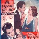 Cine: ROBERT TAYLOR - BARBARA STANWICK : LA ESPOSA DE SU HERMANO (BISTAGNE, 1939). Lote 138953166