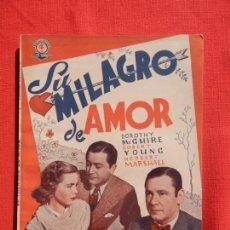 Cine: SU MILAGRO DE AMOR, NOVELA EDICIONES BISTAGNE, NUEVA!, DOROTHY MCGUIRE, 50 PÁG.. Lote 138993274