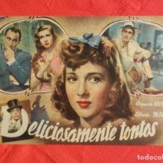 Cine: DELICIOSAMENTE TONTOS, NOVELA CINEVIDA, AMPARITO RIVELLES ALFREDO MAYO, 12 PÁG.. Lote 139107230