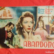 Cine: ABANDONO, NOVELA CINEVIDA, CORINA LUCHAIRE MARIA DENIS, 12 PÁGINAS. Lote 140018822