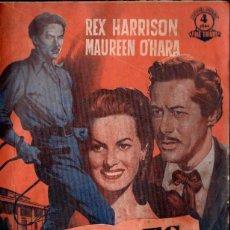 Cine: REX HARRISON / MAUREEN O'HARA : DÉBIL ES LA CARNE (BISTAGNE) ARGUMENTO Y FOTOS DE LA PELÍCULA. Lote 141178234
