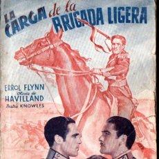 Cine: ERROL FLYNN : LA CARGA DE LA BRIGADA LIGERA (BISTAGNE) ARGUMENTO Y FOTOS DE LA PELÍCULA. Lote 141182850